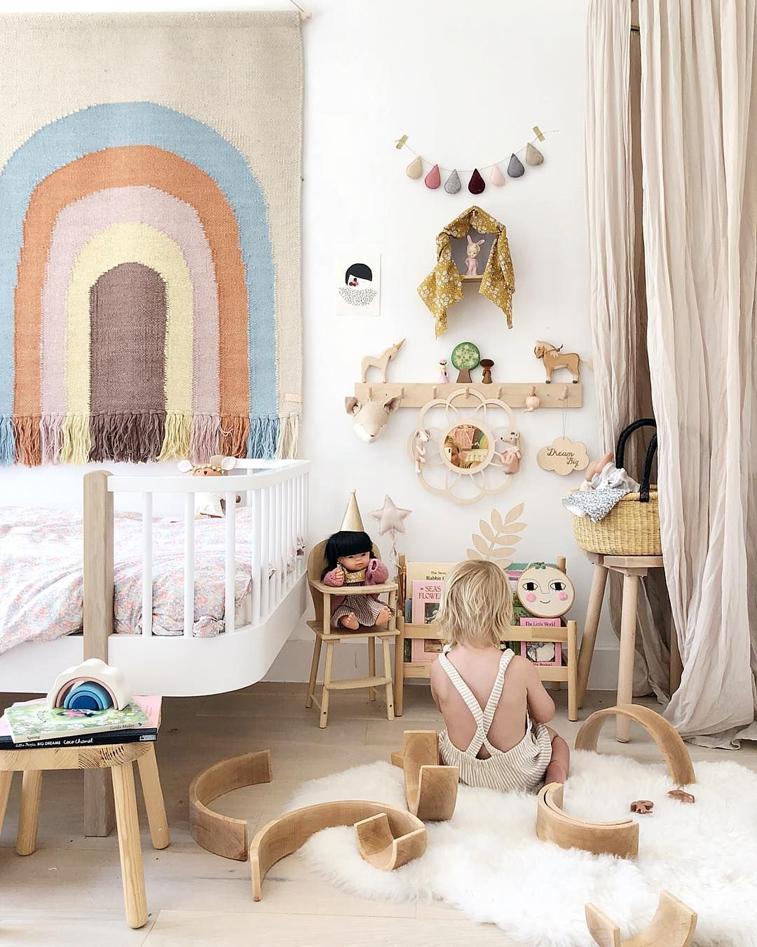 Clever Kids Room Wall Decor Ideas Inspiration: OYOY Follow The Rainbow Wall Rug Available At