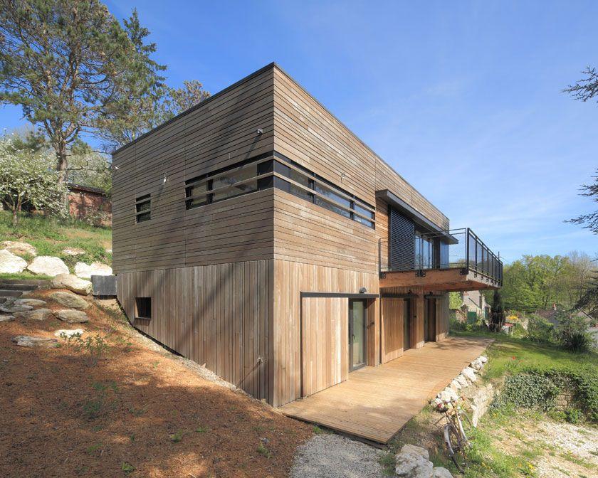 aagb - Maison MRZS maison bois Pinterest - plan de maison sur terrain en pente