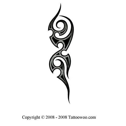 Medieval Tribal Tattoo Design Black Background Images Body Art Tattoos Love Background Images