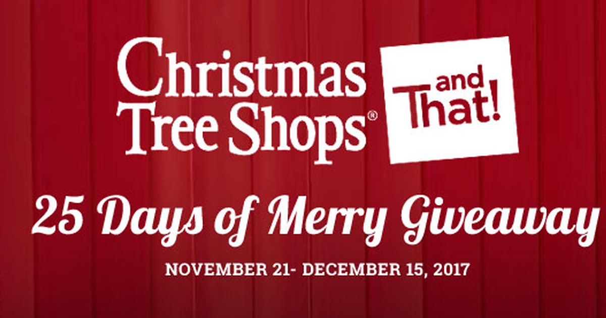 You Could Have Yourself A Merry 1 000 Shopping Spree When You Enter The Christmas Tree Shops A Christmas Tree Shop Sweepstakes Giveaways Contests Sweepstakes