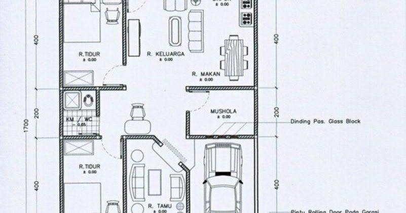 Desain Rumah Minimalis Ukuran 7x14  4 model denah rumah minimalis 7x9 1 lantai minimalis