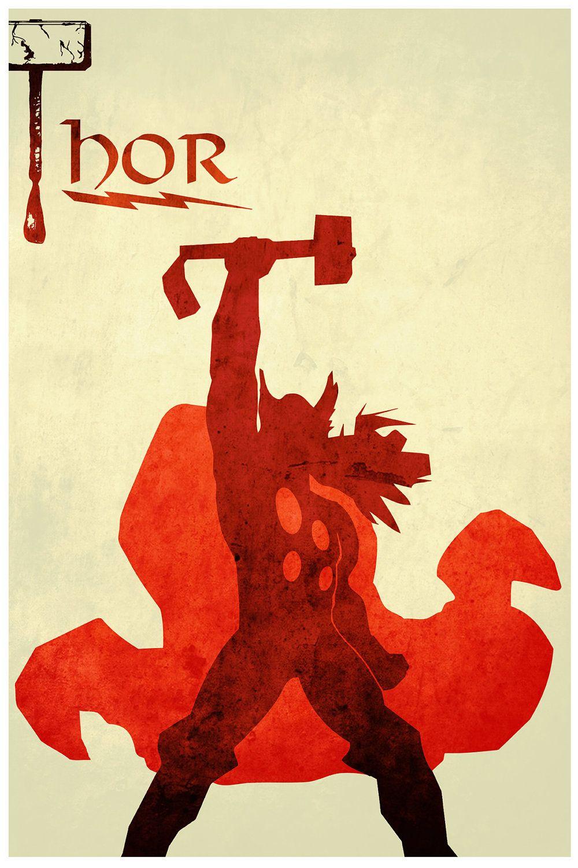 The Avengers minimalism: Thor | I Feel Like Something Nerdy Just ...