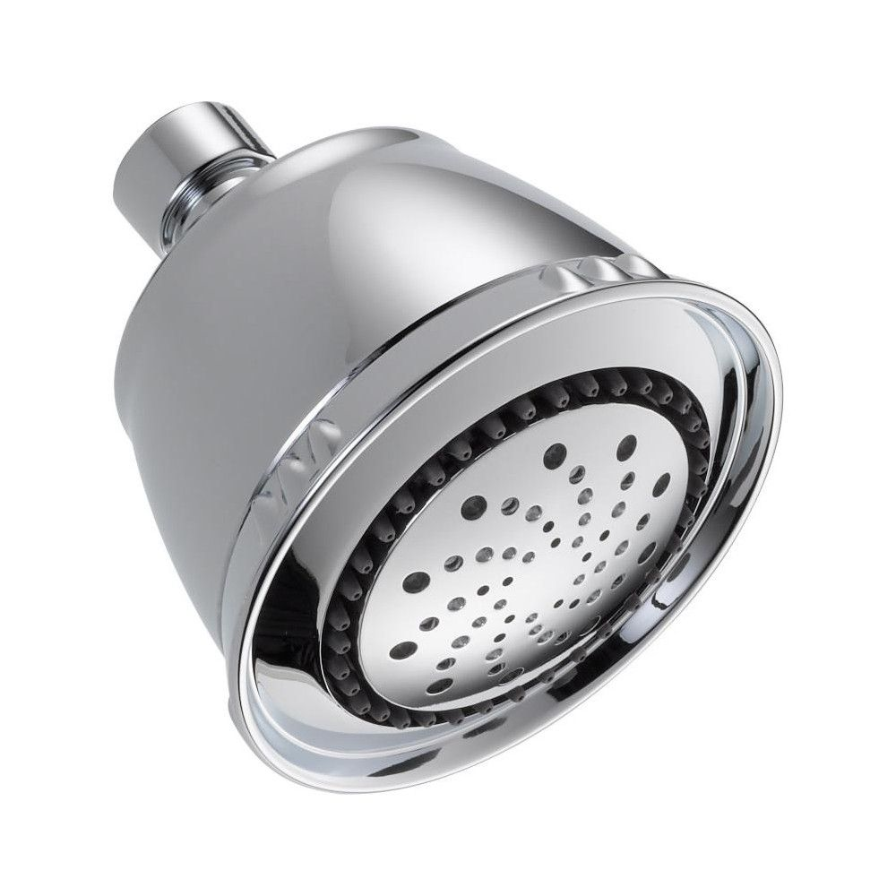 Delta Faucet 52678 Pk 2 5 Gpm Universal 3 3 4 Wide Multi Function Shower Head Chrome Grey Fixed Shower Head Delta Faucets Shower Heads