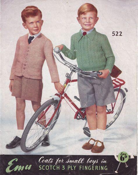 vintage boys childs childrens jumpers cardigans 1950s