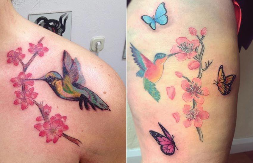 Cherry Blossom Tattoo Meaning Designs Ideas And Much More Cherry Blossom Tattoo Blossom Tattoo Hummingbird Flower Tattoos