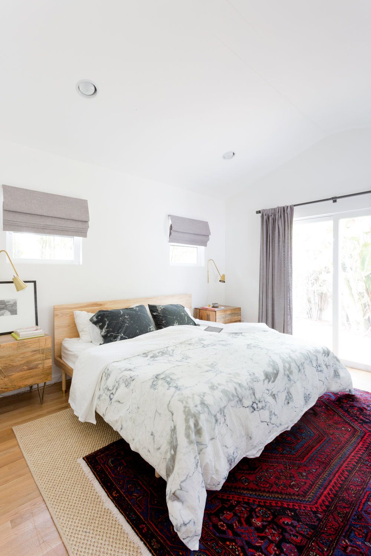 California Cool Master Bedroom, Layered Rugs, Boho Modern, Organic Modern