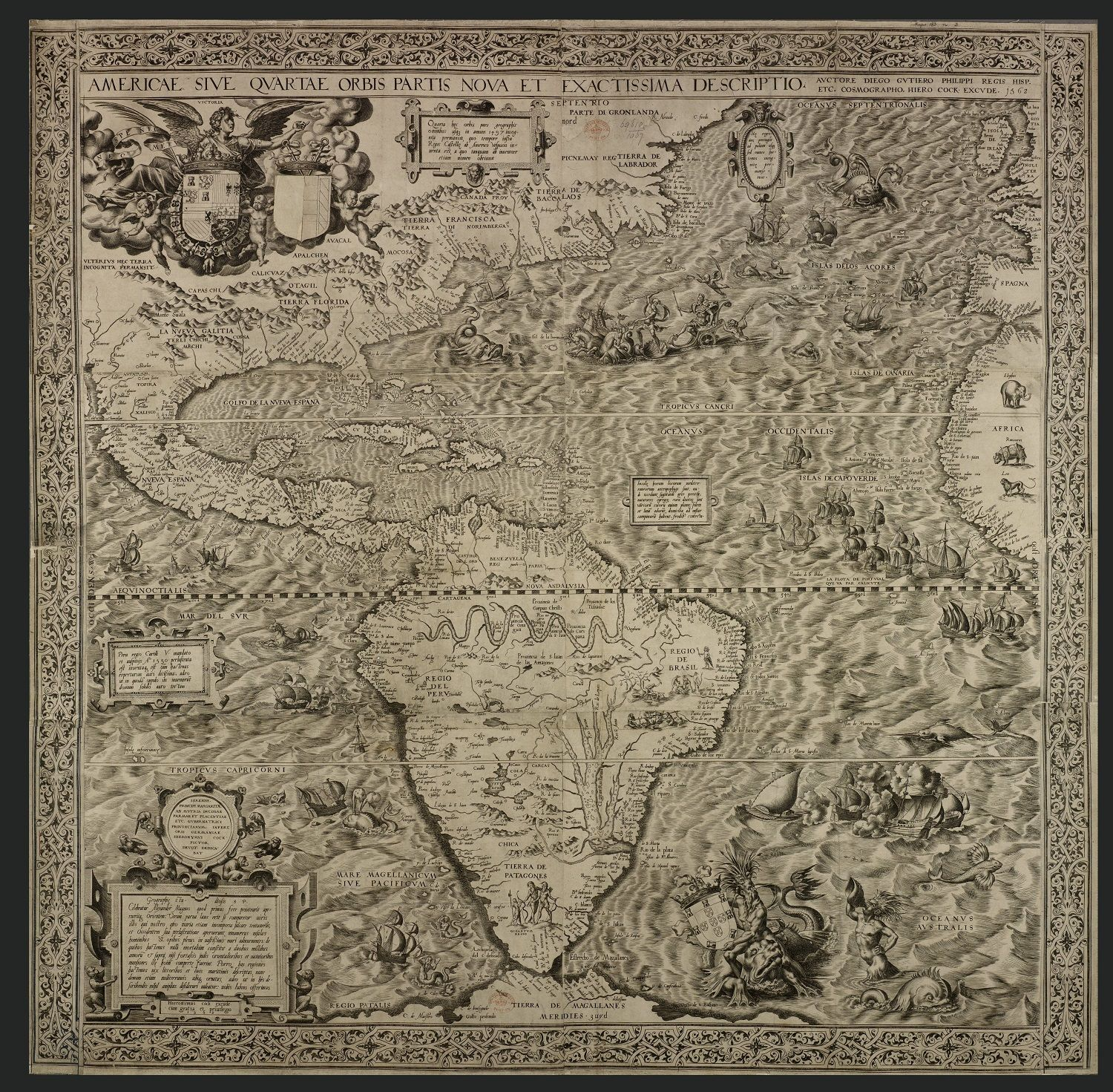 An ancient map of americapublished in the 1500s depicts a mermaid an ancient map of americapublished in the 1500s depicts a mermaid holding a gumiabroncs Image collections