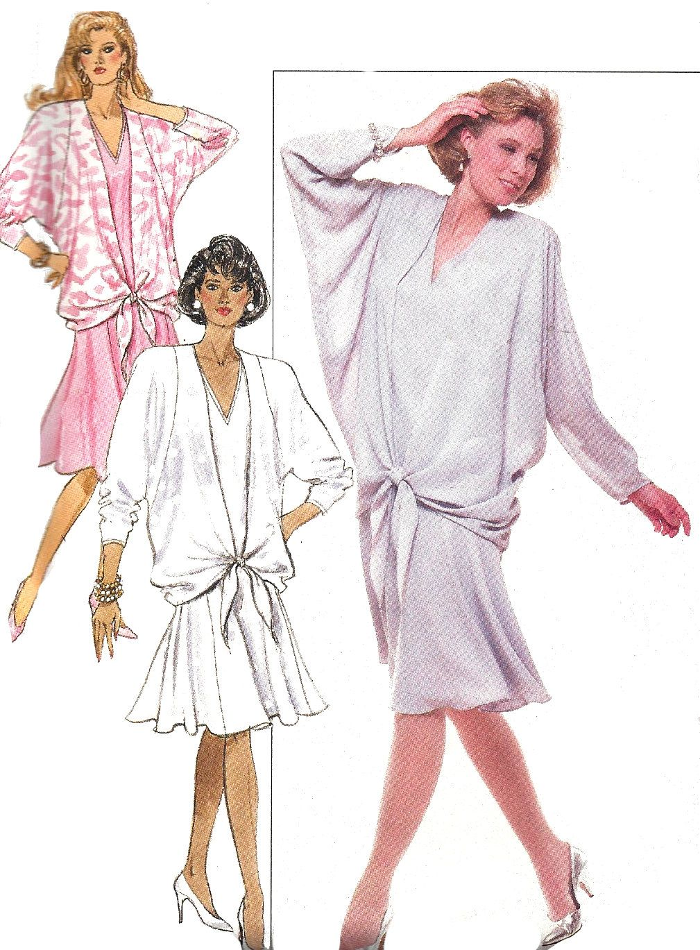 1980s Dress Pattern Vintage Butterick Sewing Uncut Pullover Women's Misses Size 20 - 24 Bust 42 - 46 Inches by SelmaLee on Etsy