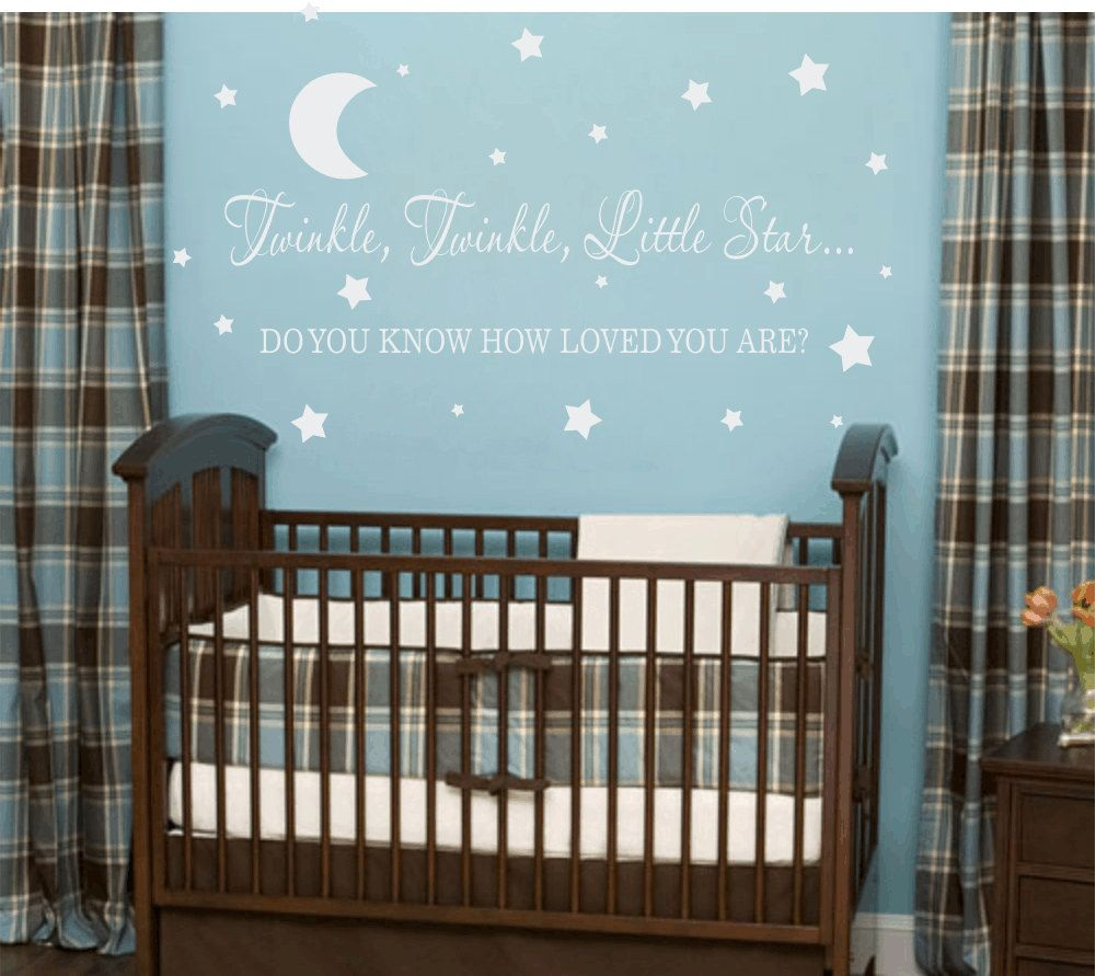 Twinkle Twinkle Little Star Vinyl Wall Decal Boy Girl Baby - Nursery wall decals baby boy