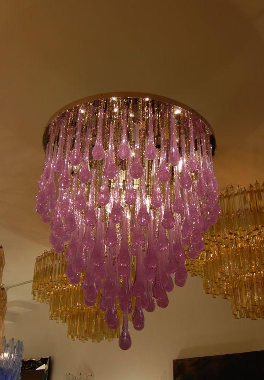 Toso large amethyst glass teardrop chandelier pendant lighting toso large amethyst glass teardrop chandelier mozeypictures Gallery