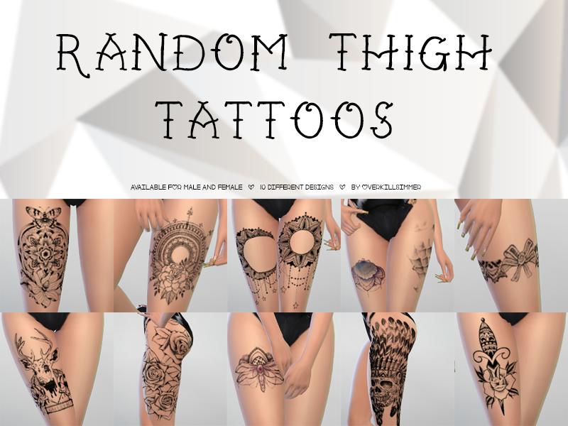 "overkillsimmer: ""Random Thigh Tattoos• Available for male and female • 10…"