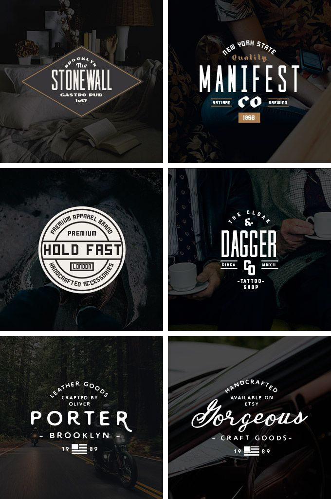 vintage logo kit for designers fonts pinterest logo templates