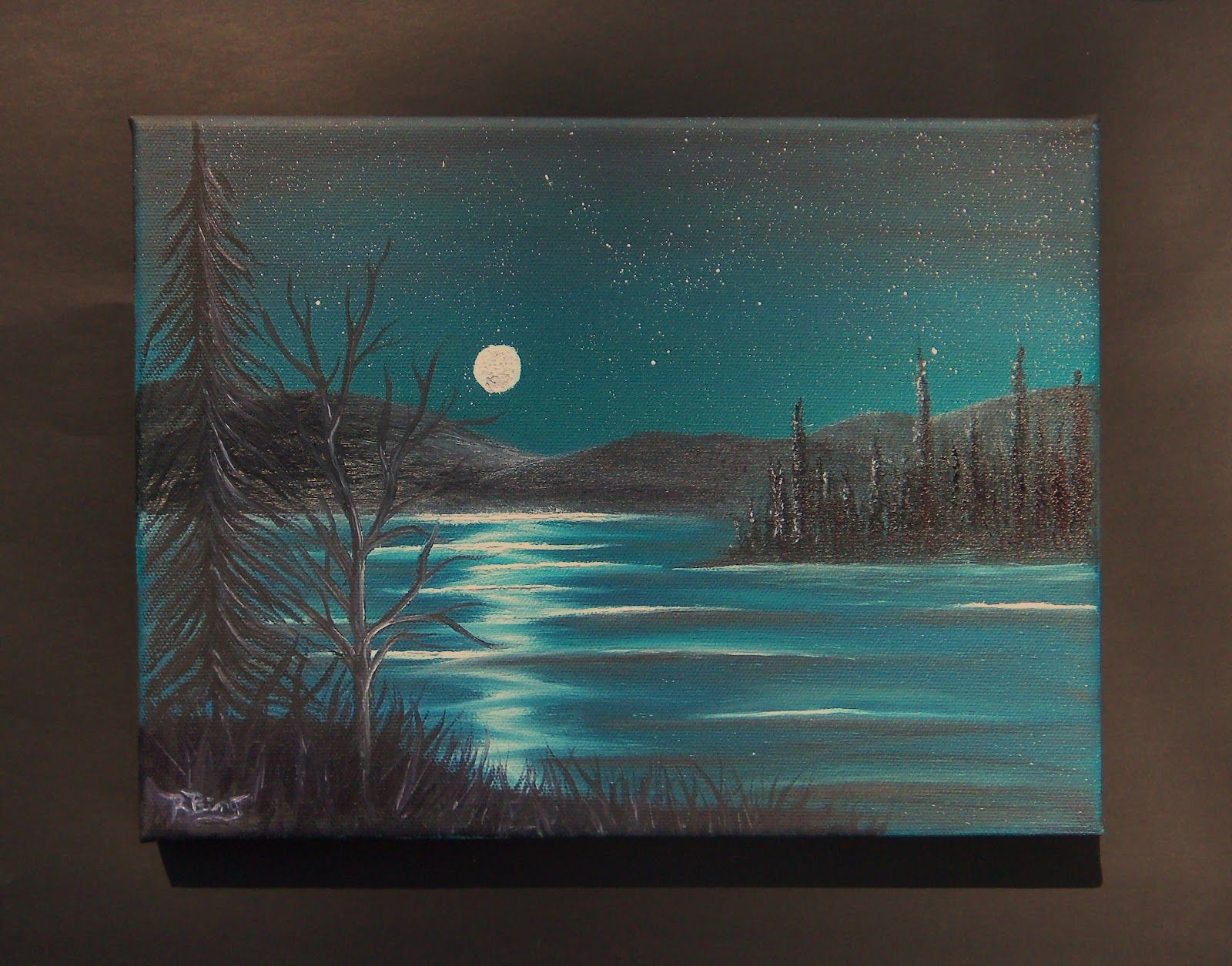 Painting On Black Canvas Youtube Google Search Black Canvas Paintings Oil Painting Landscape Painting
