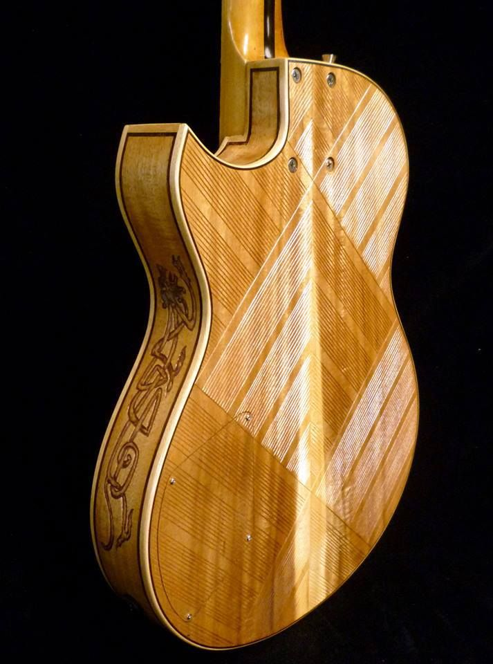 Blueberry Guitars From Bali Indonesia The Celtic Lion 5 Guitar Acoustic Guitar Celtic