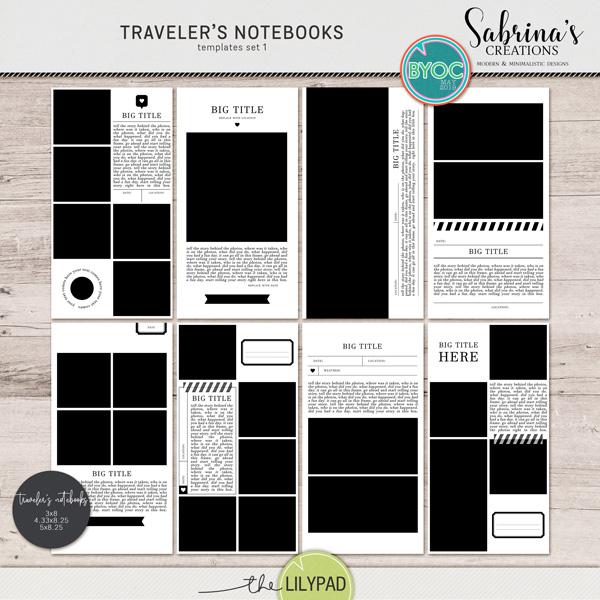 Traveler S Notebooks Templates Set 1 Travelers Notebook Travel Journal Scrapbook Notebook Templates