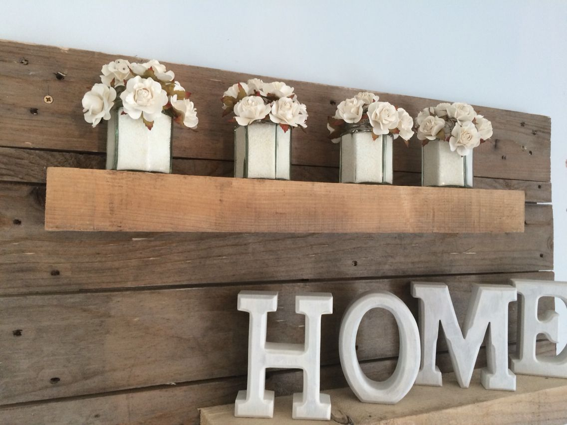 My dining room wall pallet project | Dining room walls ...