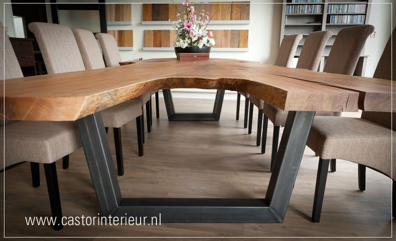 Voorkeur Robuuste boomstam-tafel 'Rode Plataan' Deze tafel is gemaakt van &UE33