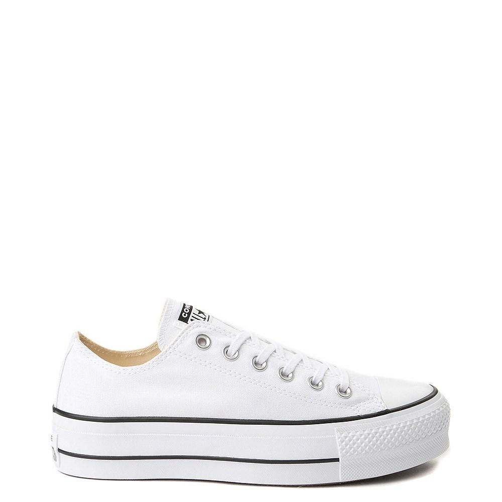 converse platform all white