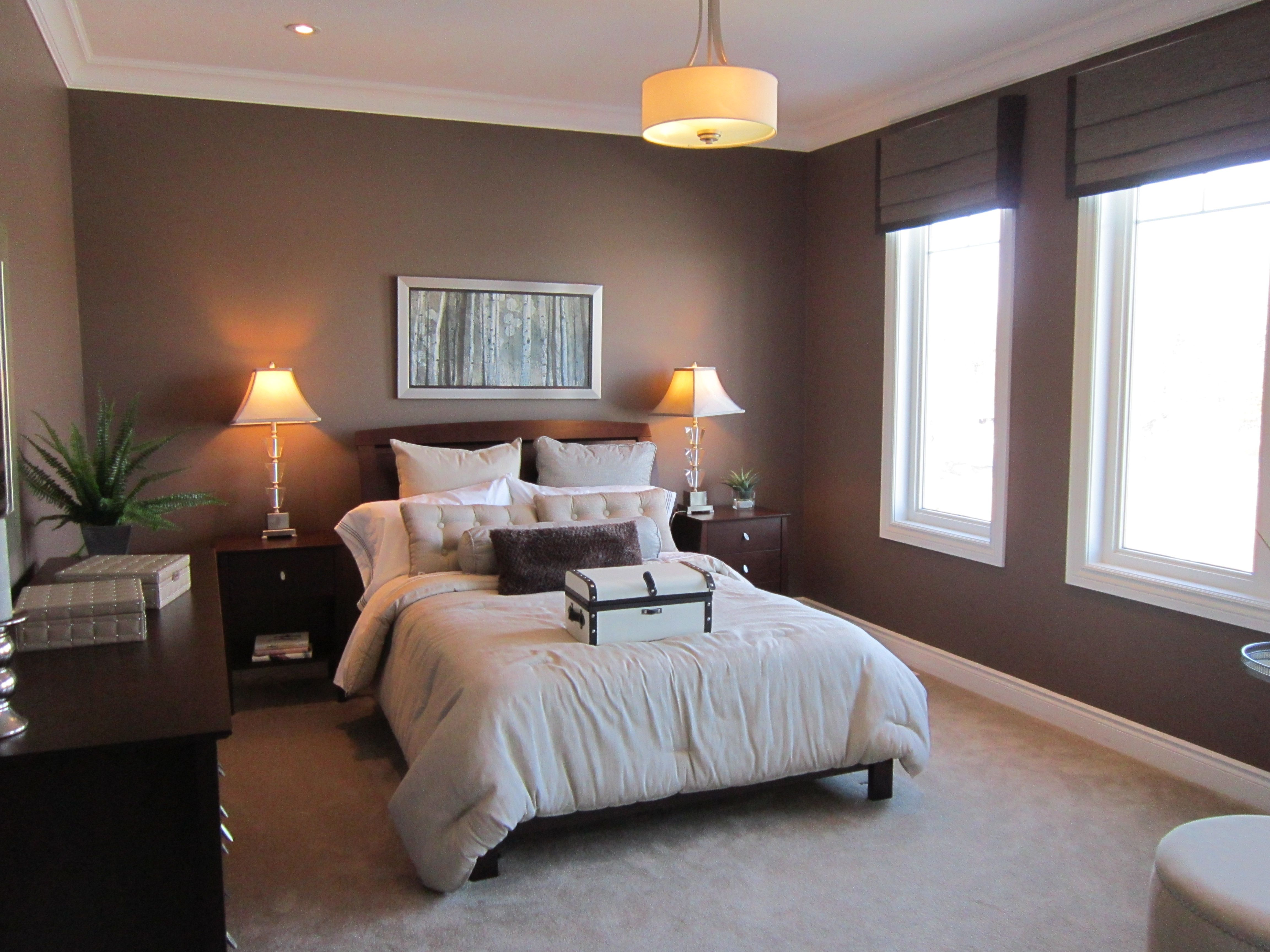 Another natural light filled master bedroom. Love the big