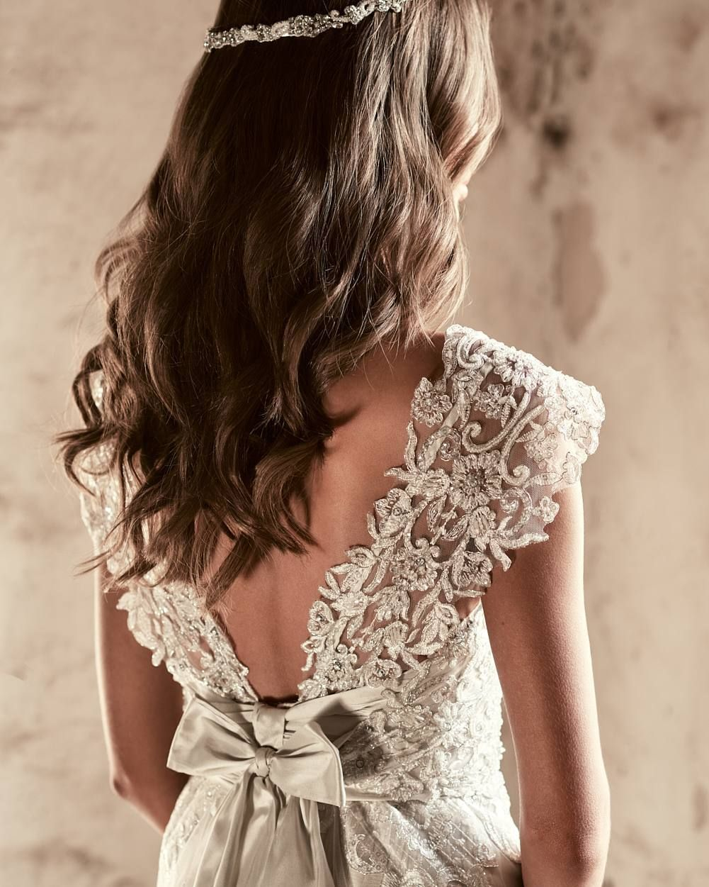 Champagne colored wedding dress  Champagne colored wedding dress with lace and beading so romantic