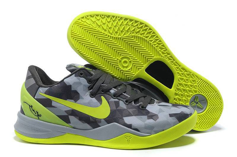 UK sale Women Nike Zoom Kobe Viii 8 Grey Green Shoes