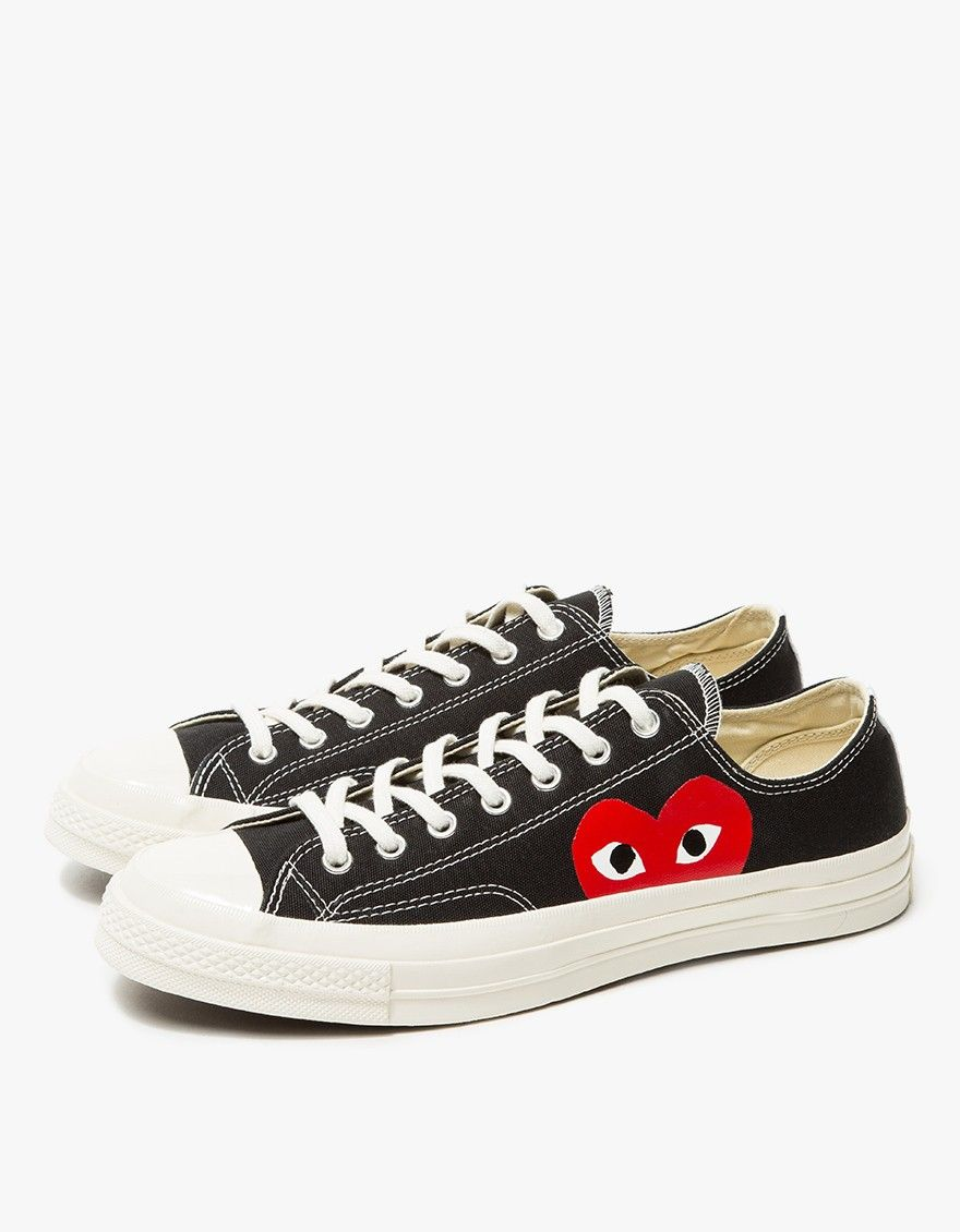 a50b941bed Comme des Garçons Play   Play Converse Chuck Taylor Low in Black