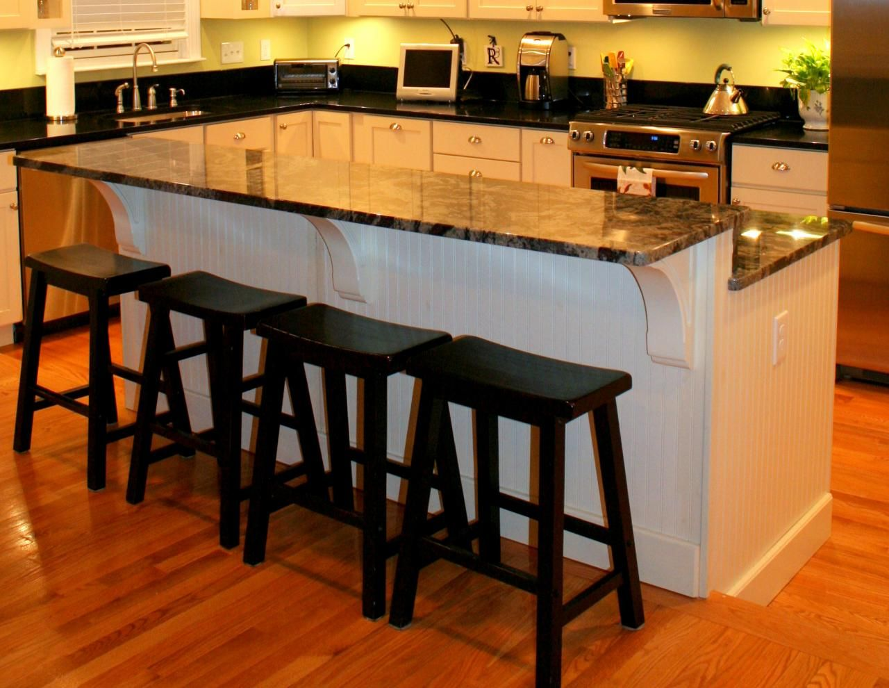 2 tier kitchen island height