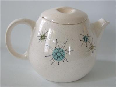 Vtg Franciscan STARBURST Teapot w/ Lid Atomic Mid Century Modern ...