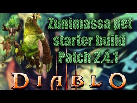 Diablo 3 [PTR Patch 2 4 1] Witch Doctor▻Zunimassa Starter Build for