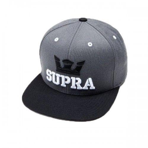 SUPRA ABOVE SNAPBACK GREY   BLACK  818db0def058