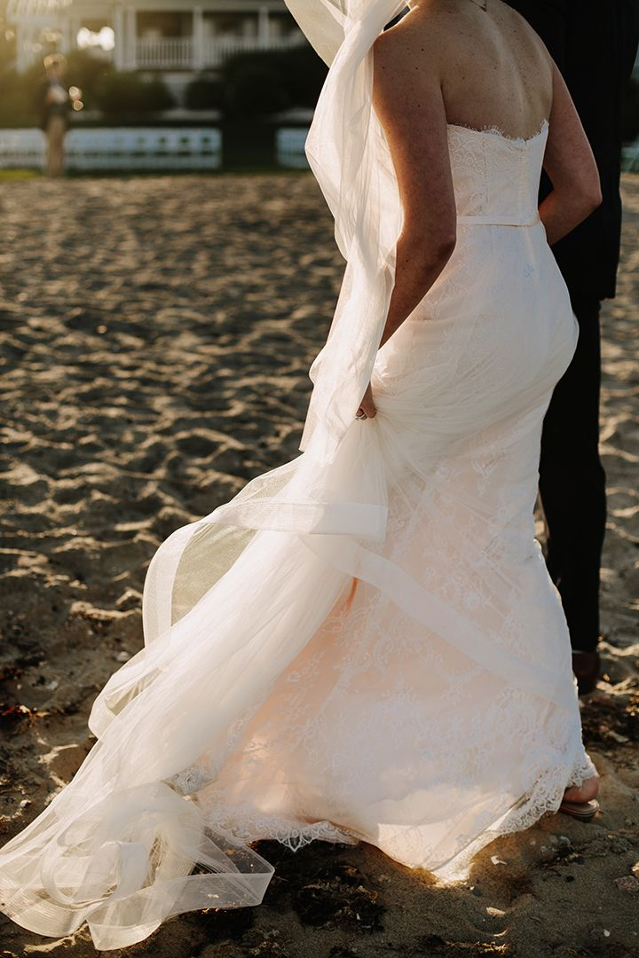 strolling in the sand wearing Enchanting by Mon Cheri Style 116134 ...