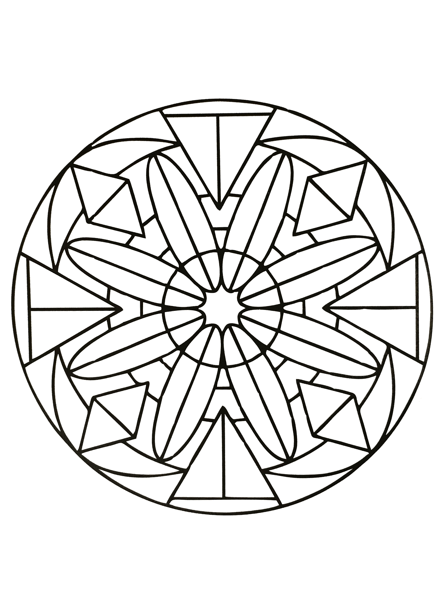 Free Coloring Page Mandalas To Download For 9