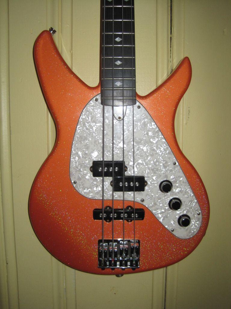 Vaccaro X-Ray bass in Orange Sparkle, the original Vaccaro company signature color!
