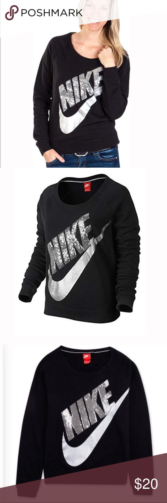 677977b27d4a NIKE RALLY CREW SEQUIN SWEATSHIRT 🔻Women´s sweater Nike RALLY CREW-SEQUIN  made