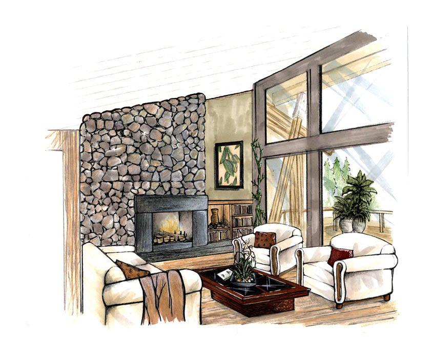 Interior Design Drawings Perspective Interior Design Drawings