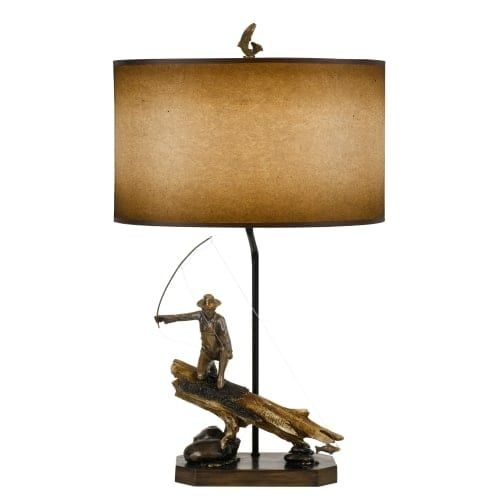Cal lighting bo 2657tb fly fishing single light 305 tall novelty cal lighting bo 2657tb fly fishing single light 305 tall novelty table lamp wi aloadofball