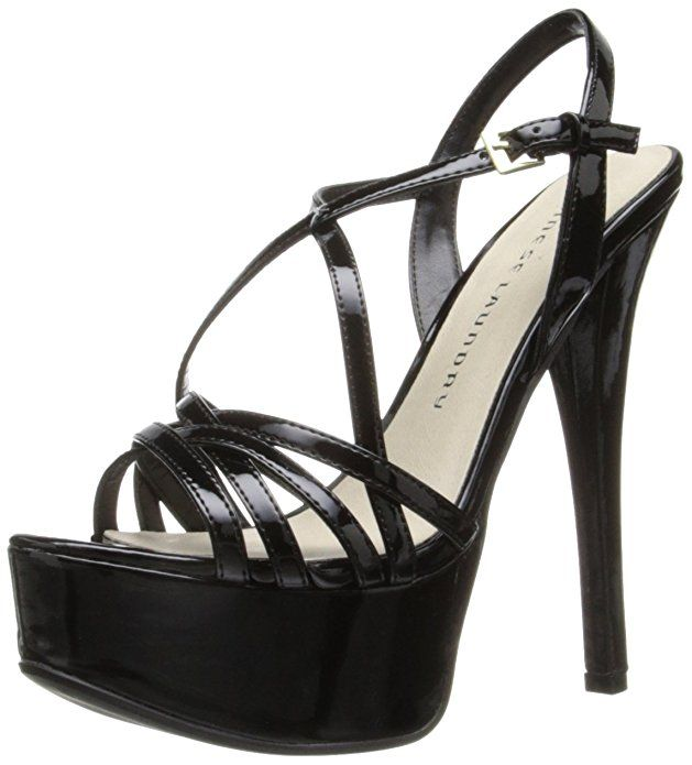 Chinese Laundry Women S Teaser Platform Dress Sandal Black Patent 6 M Us Black Strappy Heels Trending Fashion Shoes Heels
