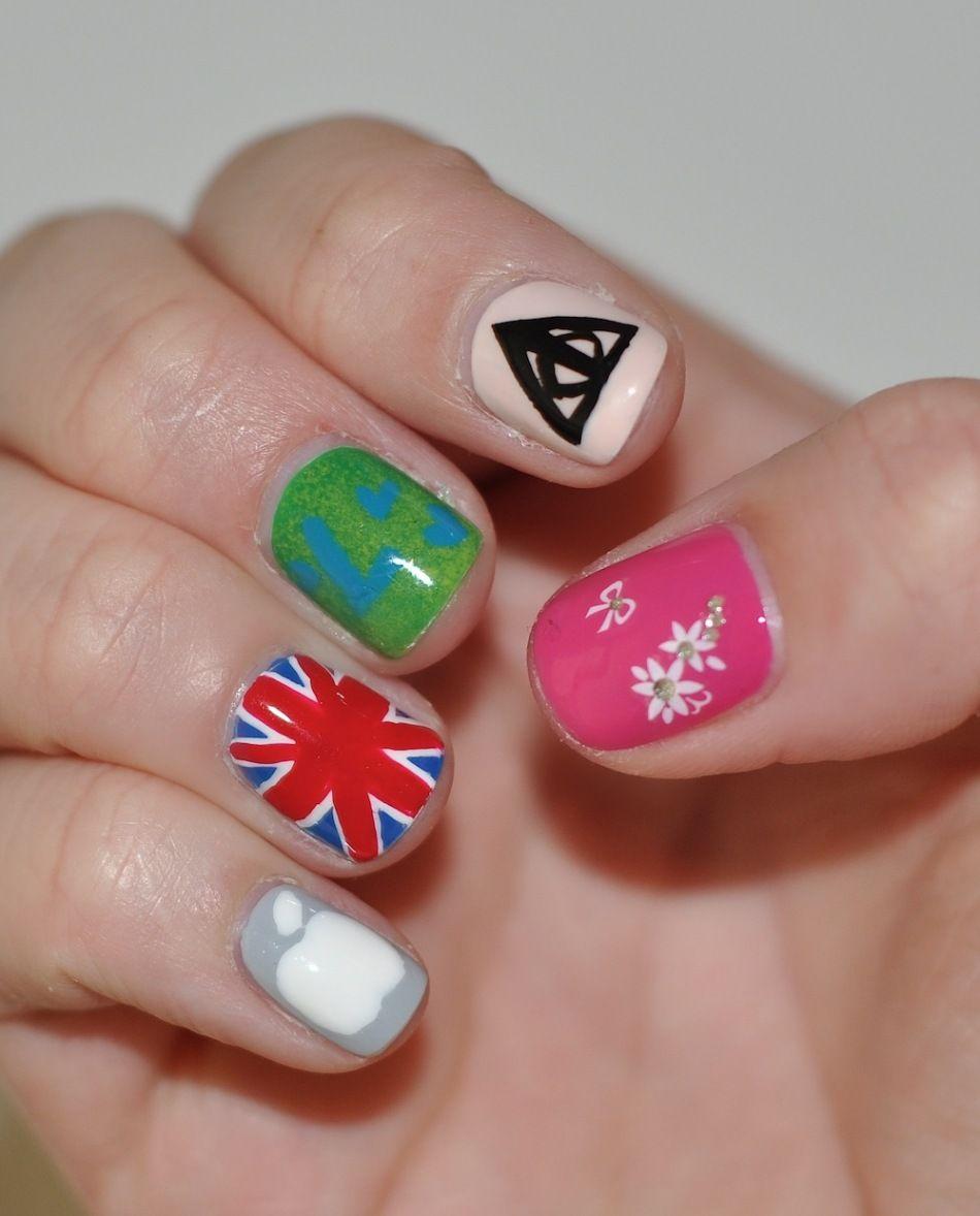Different Design Each Nail Cute Nails Pinterest Manicure