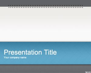 Notepad Powerpoint Template Background For Presentations