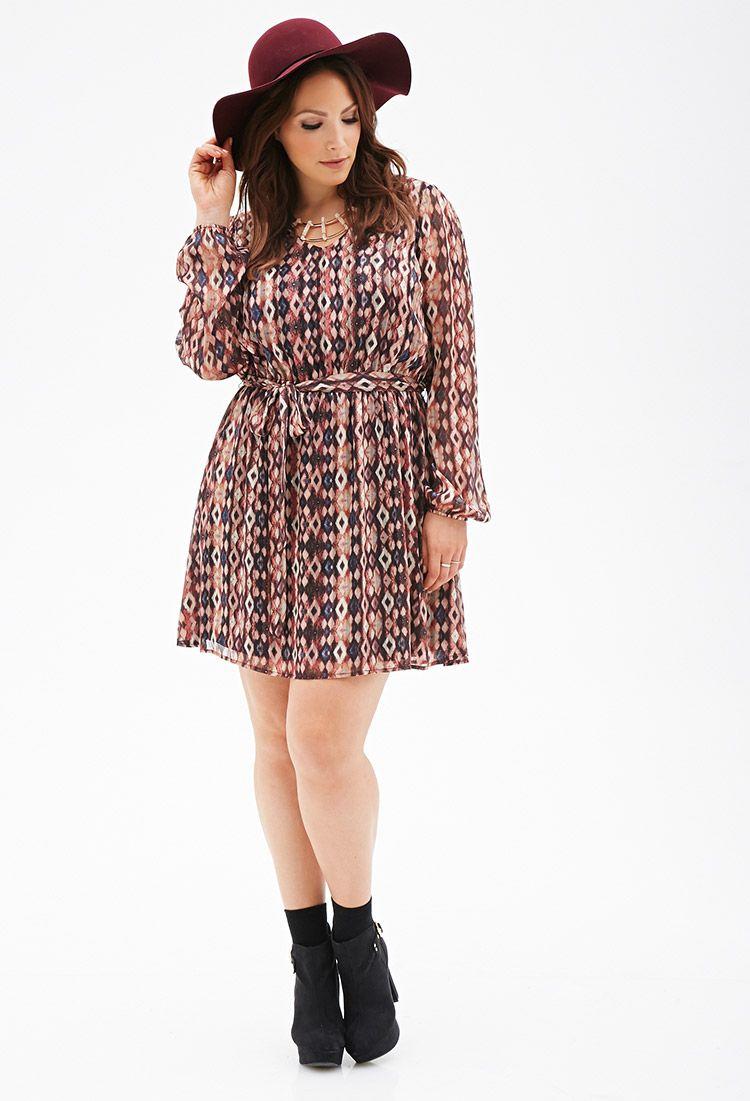 f790cb3ebf9 Printed Chiffon Dress