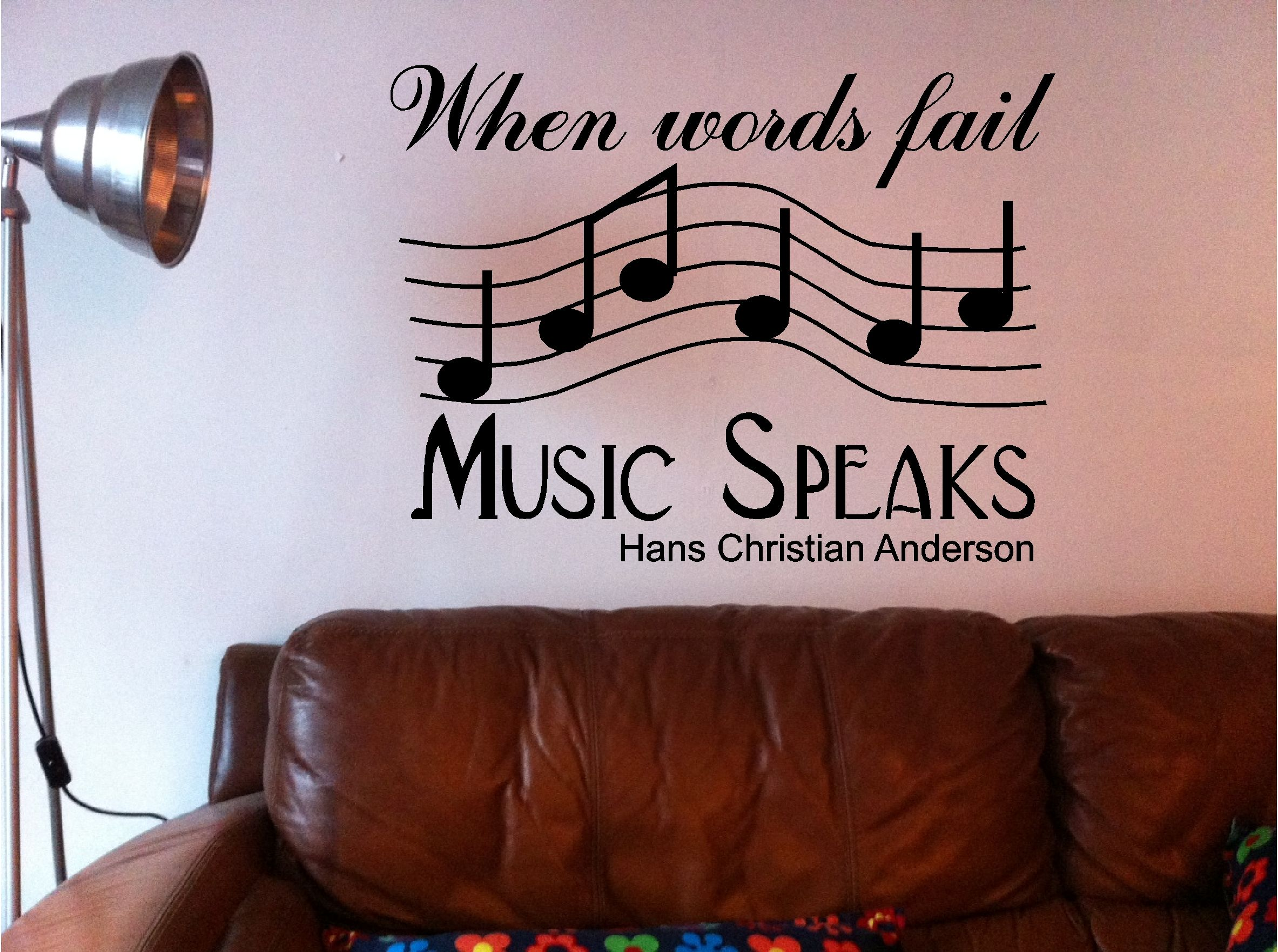 128 best music bedroom images on pinterest music bedroom music words fail music speaks wall art quote sticker vinyl bedroom lounge