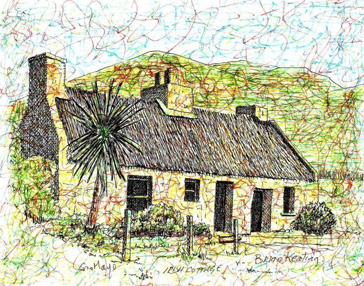 ARTFINDER Irish Cottage By Brian Keating