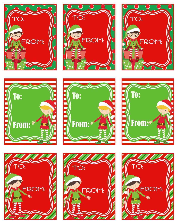 Printable Elf Christmas T Tags These Fun Little Guys