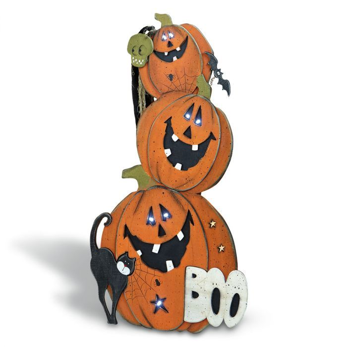 Jack-O-Lantern Light Up Easel Nifty Halloween Decorations