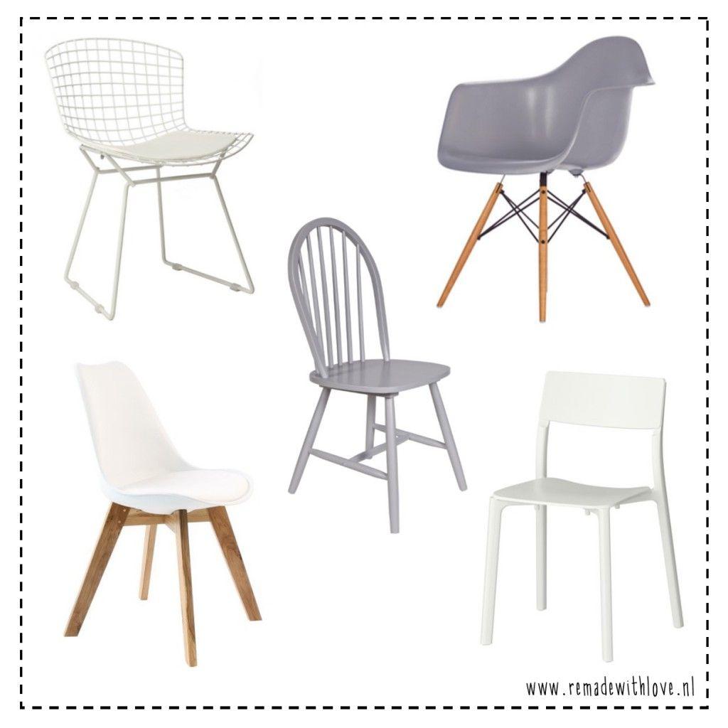Hippe eetkamer stoelen met een scandinavische design en allemaal ...