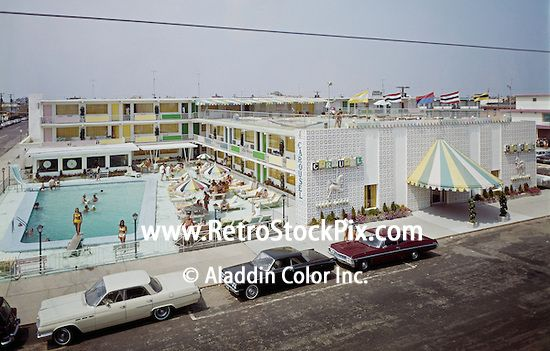 Carousel Motel Wildwood Nj Exterior Of The Motel With Large Colorful Awning And Pool Area Wildwood Hotels Wildwood Wildwood Nj