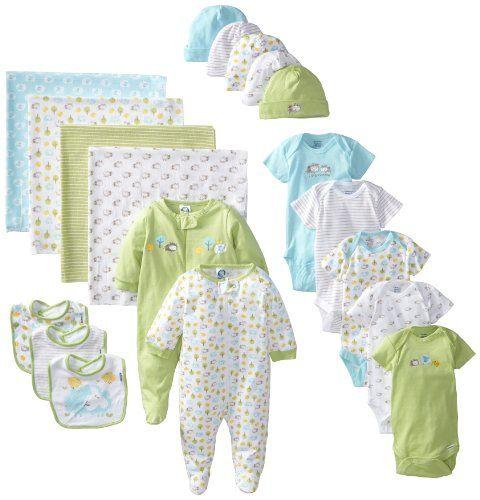 Gerber Unisex-Baby Newborn Neutral 19 Piece Newborn Essentials Gift Set $40.00 (save $10.00)