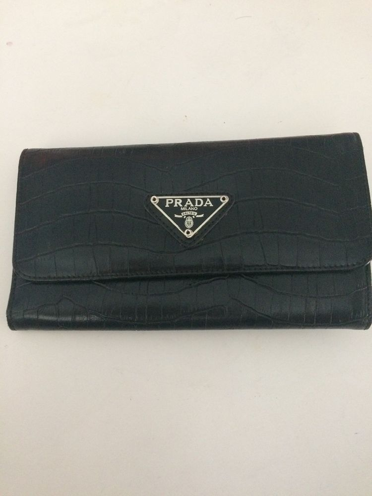3989b4258194e7 Prada Milano Dal 1913 Black Wallet. Pre-owned | Dicounted today/ebay ...