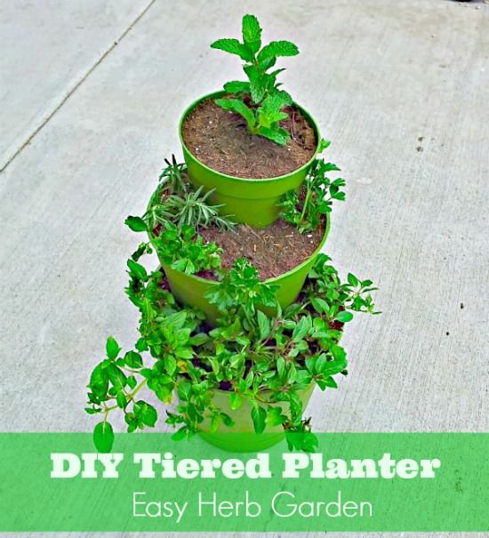 Diy How To Make A Tiered Planter For Flowers And Herb Gardens