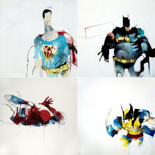 Anthony Lister Abstract Superheroes Comic Art Superhero Street Art